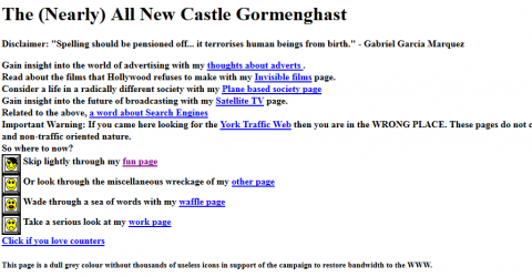The (nearly) all new Castle Gormenghast